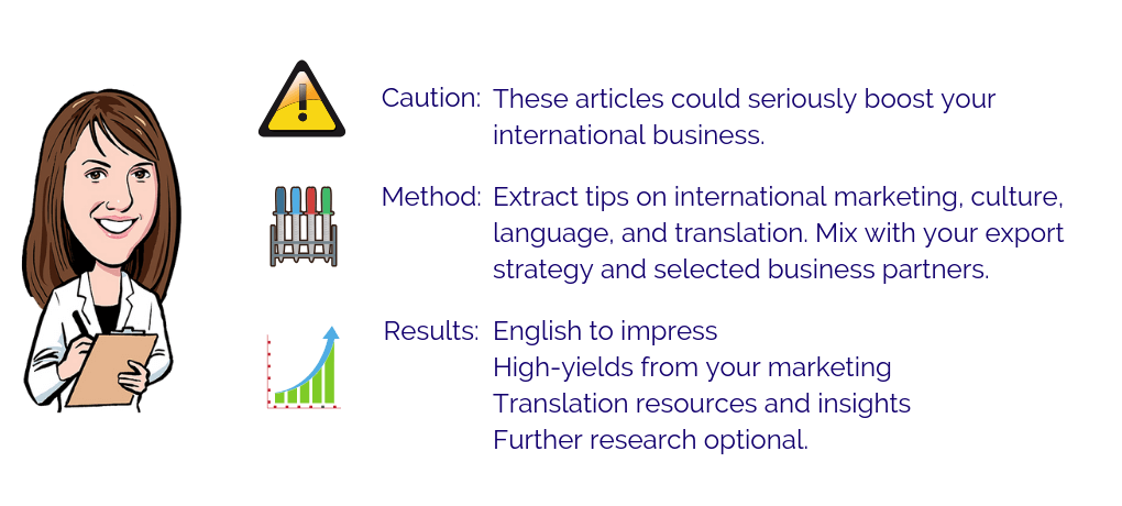 Blog tips on international marketing, culture, language and translation