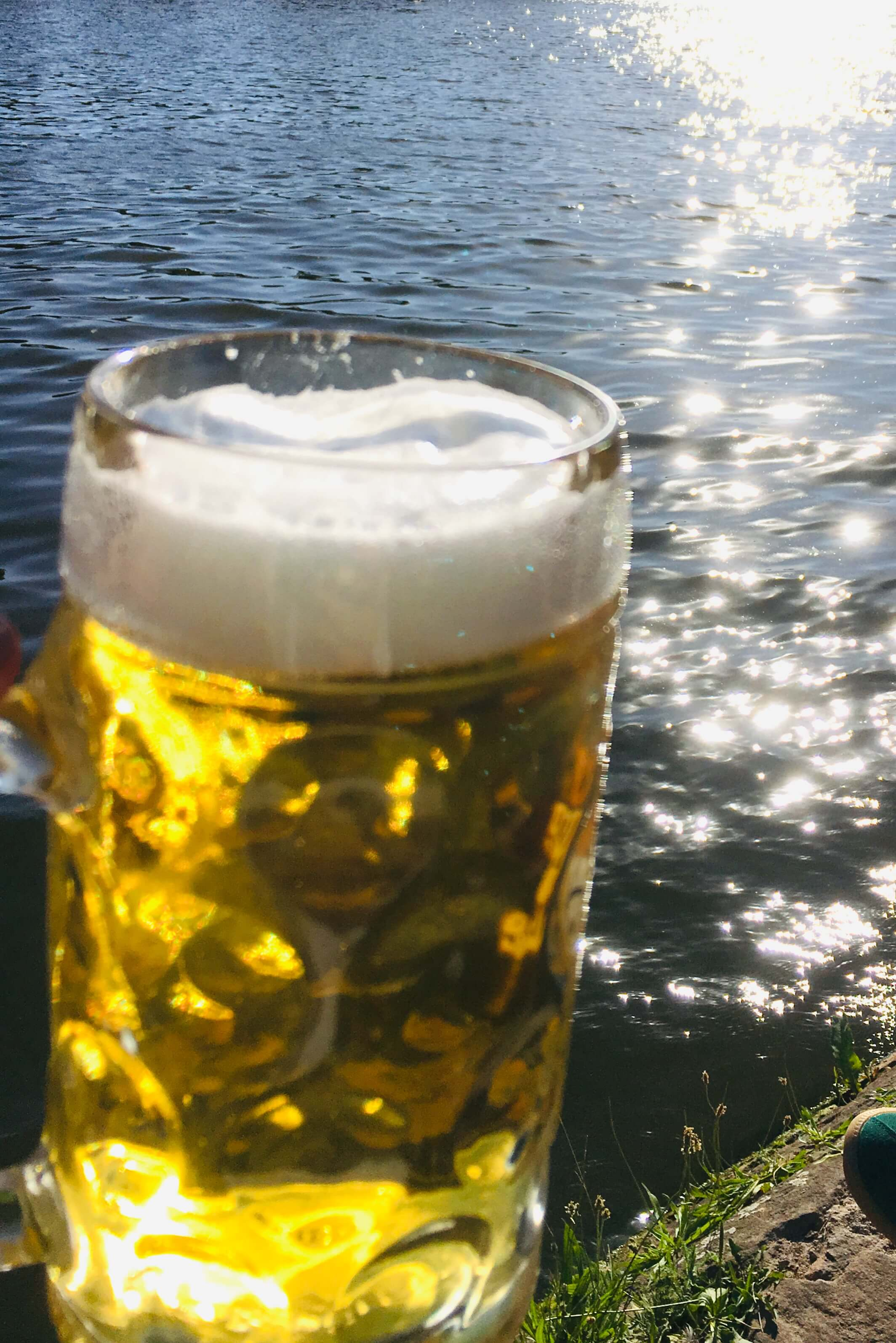 Beer by the river