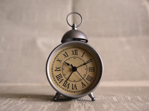 Old-fashioned alarm clock
