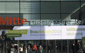 Der Eingangsbereich der BrauBeviale Fachmesse 2018