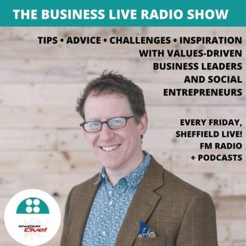 Interview mit Jamie Veitch in der Radiosendung Business Live, gesendet auf Sheffield Live